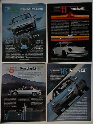 Nice Lot #3 of 12 Different Porsche Sports Car Magazine Print Ads