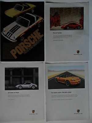 Nice Lot #1 of 12 Different Porsche Sports Car Magazine Print Ads