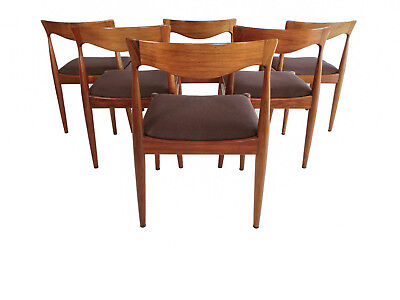 Mid Century Spade Back Dining Chairs x 6 Vintage Retro Danish Deluxe Rare