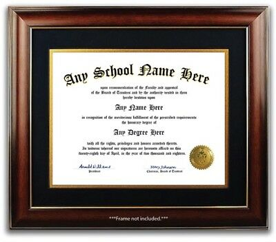 College University High School Personalized Diploma Degree w/ Gold Seal Novelty