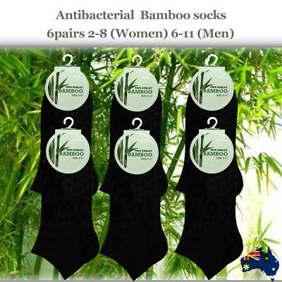 6pairs Bamboo Antibacterial Sports Socks 2-8 or 6-11 -Free Shipping from Sydney