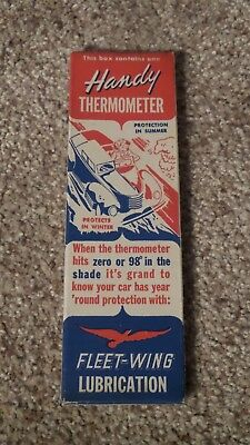 Vintage Fleet Wing Service Thermometer Sign NOS