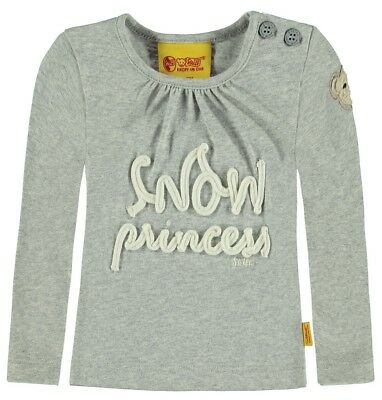 Steiff ✬ Mini Girls Langarm Shirt gr. 62 / 3 Monate Snow Princess gray ✬ Neu ✬