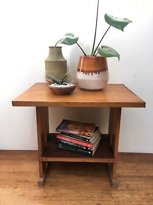 Vintage Retro Timber Side Table
