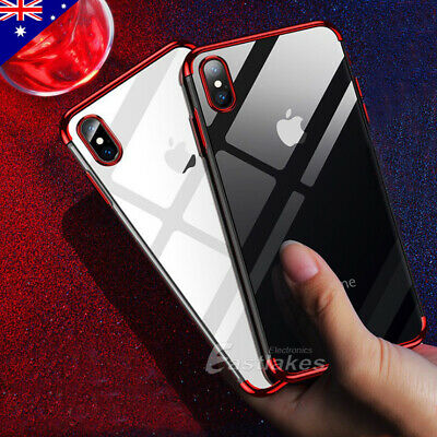 iPhone XS MAX XR X 11 Pro Shockproof Case Soft Gel Bumper Clear Cover For Apple