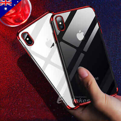 iPhone XS MAX XR X 8 7 Plus Shockproof Case Soft Bumper Tough Clear Cover Apple