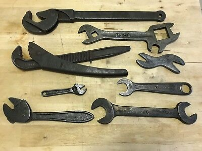 Collection of 8 Vintage Wrenches / Spanners