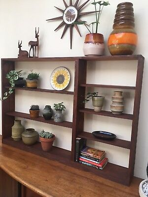 Vintage Retro Rustic Style Recycled Timber Bookcase Shelving Unit
