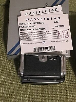 Mint Hasselblad A12 Back Chrome with Box and documents (Last Version IV)