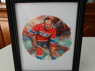 Canada Post NHL Framed Lithograph of Montreal Canadien Howie Monrenz