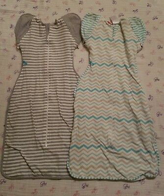 Two Large Love to Dream swaddle 50/50 removable arms, one lite one original