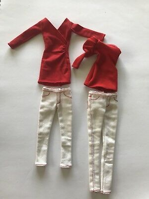 Barbie Basics Target Collection White Jeans And Red Tops