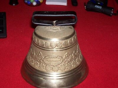 Vintage Gusset Ag Uetendorf #7 Swiss Made Brass Cattle Bell  Very Nice!!! L@@k!