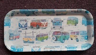 Vw Camper Vans Design Melamine Tray. Made In Britain. Unused. Perfect Condition