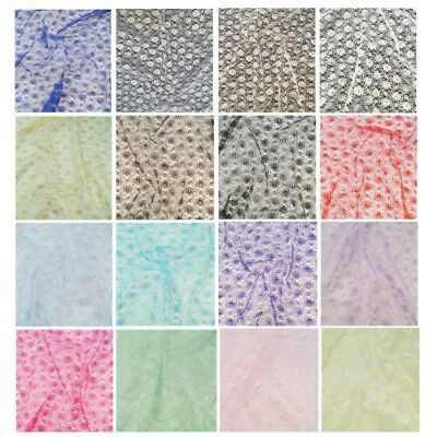 Floral Lace Fabric Dress Net Bridal Material Poly Dressmaking Curtain Costume