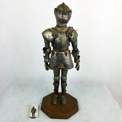 "Vintage Knight in Armor Statue Armored Man Figure 1960s Mid Century 19.5"" H"