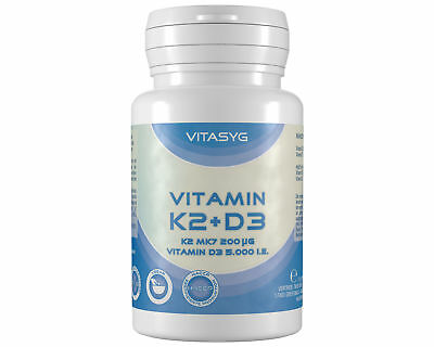 Vitamin K2 + D3 - 365 Tabletten K2 MK7 200µg All Trans Vitamin D3 5000 i.e.