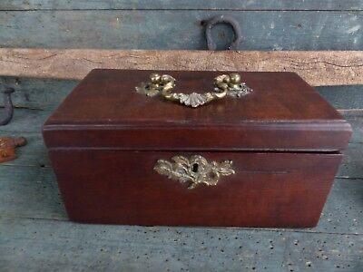 antique tea caddy very early 19th century