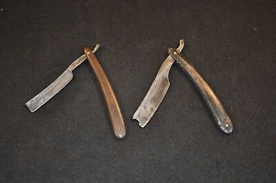 Antique 19th C. Straight Razors Vintage Handles English Razor Scarce Mid-Century