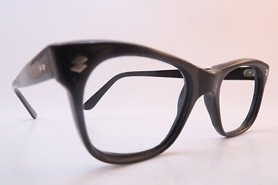 Vintage 50s eyeglasses frames brown acetate CON BAR made in Italy