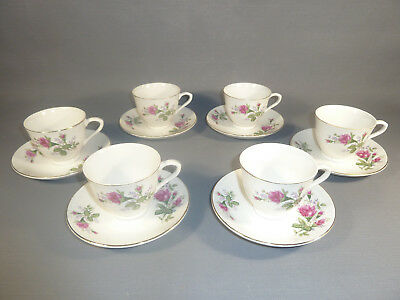 Set of 6 Cups & under Cups Porcelain Chinese Bag French Antique