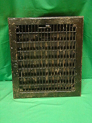 Vintage 1920S Iron Heating Grate Insert Rectangular 13.5 X 11.5