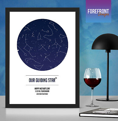 Personalised 'GUIDING STAR' map perfect gift for Mother's Day/Mummy/Grandma/Mum