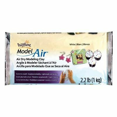 Polyform Model Air Dry Modeling Clay 1kg - White - BEST VALUE IN EU - DAS