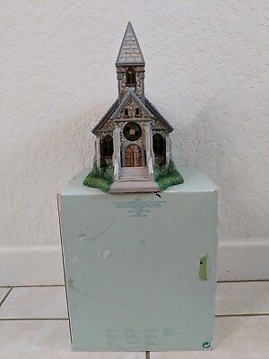 Partylite Olde World Village Church Chapel Tea Light Candle House BOX