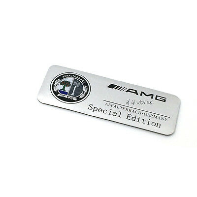 Metal Silver AMG Logo Special Edition Badge Car Sticker Emblem For Mercedes-Benz