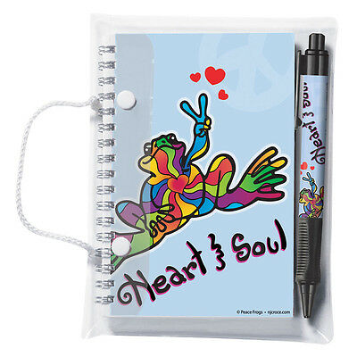New Peace Frogs Heart & Soul Pen & Pad Set