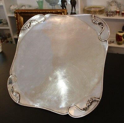 Vintage Carl Poul Petersen Sterling Silver Footed Tray C. 1944-76