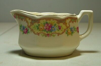 Vintage Knowles? Floral Creamer, Gravy, Sauce Made In USA