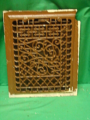 Antique Cast Iron Heating Grate Register Vent Floor Wall Unique 14 X 11  C