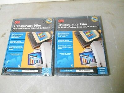2 Packs 3M Transparency Film for HP Ink Jet Printers,CG3460, 50 Sheets