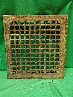 Vintage 1920S Iron Heating Grate Square Design 14 X 12 Wt