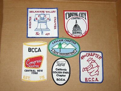 6 Different Vintage Bcca Beer Chapter Patches