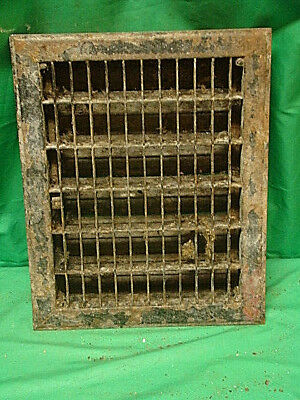Vintage 1920S Iron Heating Grate Rectangular Design 14 X 11 F