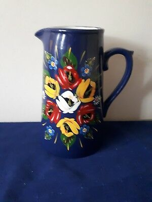 Hand painted traditional narrow boat style jug