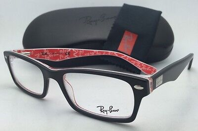 dfc5f66452 RAY-BAN RB 5206 5517 Grey Red Eyeglasses Authentic Frames Rx Rb5206 ...