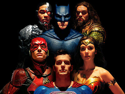 """Justice League (2017) Movie Silk Fabric Poster 12""""x16"""" 24""""x32"""""""