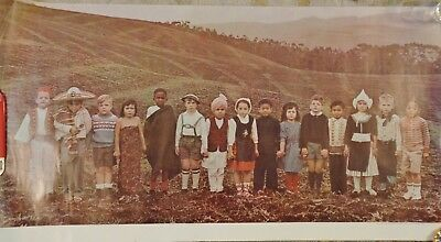 Original 1966 National Dairy Council Poster * Diverse Children on Farm Photo