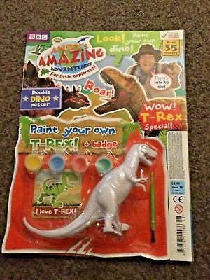 ANDY'S AMAZING ADVENTURES MAGAZINE ISSUE 18 paint your own t-rex