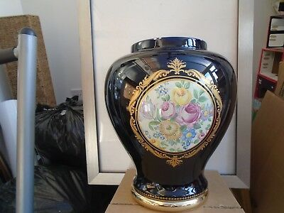 very large Limoges mignon decore a la main cobalt blue jardiniere  TAKE A LOOK