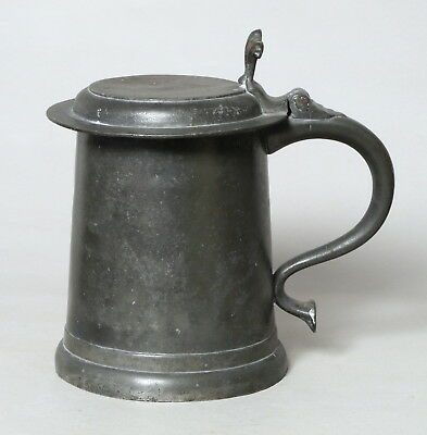 An Excellent Large Antique Early Pewter Tankard Probably Georgian (?)