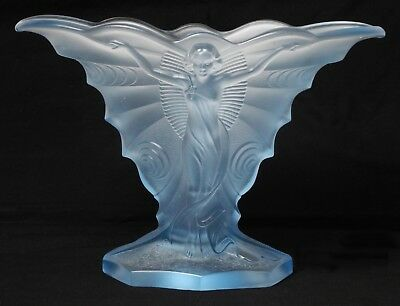 Really Stunning Rare Walther & Sohne Art Deco 'schmetterling' Glass Vase