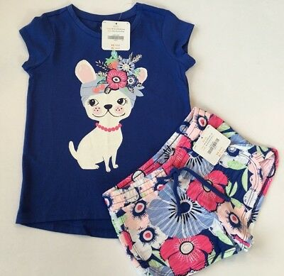 Gymboree Girls Tee & Shorts Pup Flower Outfit NWT 4 5 6 7 8 10 12 14 $42.90
