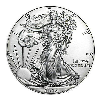 2016 American Silver Eagle $1 Brilliant Uncirculated with Airtite Holder