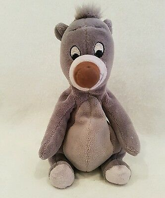 "Jungle Book Baloo Bear Disney Store plush soft toy 8"" beanie"
