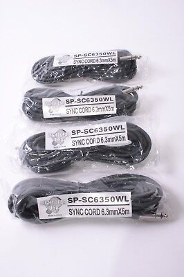 "(4) Lightgear USA 15' Sync Cords PC to 1/4"" Stereo SP-SC635OWL"